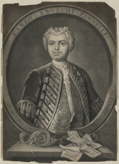 Carlo Broschi ('Farinelli'), by Alexander van Aken, after  Charles Lucy - NPG D825