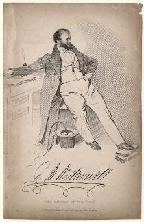 Charles Molloy Westmacott, by Daniel Maclise, published by  James Fraser - NPG D8273