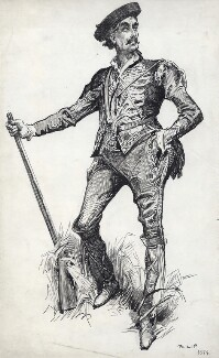 Sir Henry Irving as Philip in 'Philip', by Harry Furniss - NPG D83