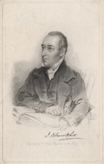 Joseph Blanco White, by Frederick Christian Lewis Sr, after  William Behnes - NPG D8311