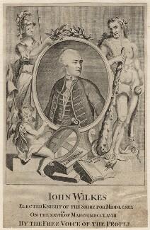 John Wilkes, after Unknown artist - NPG D8325