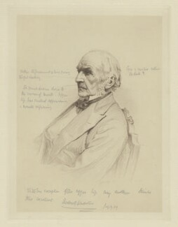 William Ewart Gladstone, by W(?) Burton, after  Unknown photographer - NPG D8332