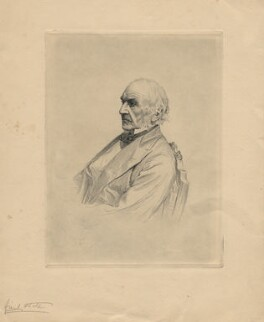 William Ewart Gladstone, by W(?) Burton, after  Unknown photographer - NPG D8333