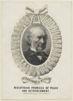 William Ewart Gladstone ('Midlothian Promises of Peace and Retirement'), published by Reynolds & Co - NPG D8339
