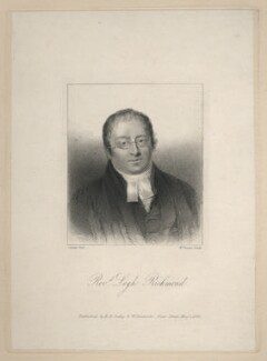 Legh Richmond, by William Finden, published by  R.B. Seeley & W. Burnside, after  Joseph Slater - NPG D8354