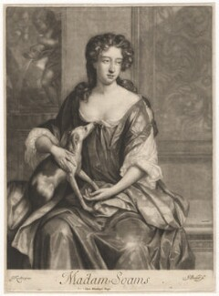Joan Soame (née Shute), by Isaac Beckett, after  Sir Godfrey Kneller, Bt - NPG D8368