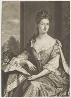 Queen Anne when Princess of Denmark, by John Smith, after  Sir Godfrey Kneller, Bt, 1692 - NPG D8369 - © National Portrait Gallery, London
