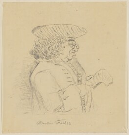 Martin Folkes, by George Perfect Harding - NPG D837