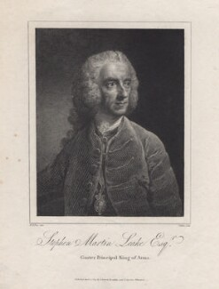 Stephen Martin Leake, by Thomas Milton, after  Robert Edge Pine - NPG D8386