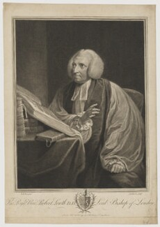 Robert Lowth, by and published by John Keyse Sherwin, after  Robert Edge Pine - NPG D8402
