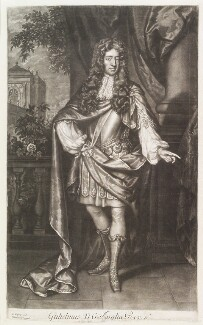 King William III, by John Smith, after  Willem Wissing, after  Jan van der Vaart - NPG D11530