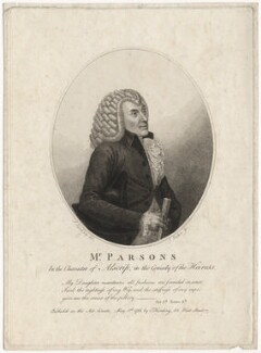 William Parsons as Alscrip, by James Parker, published by  Edward Harding, after  Silvester (Sylvester) Harding - NPG D8431