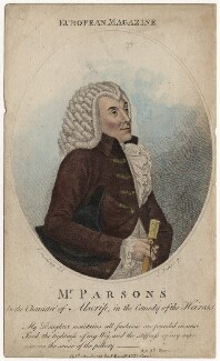 William Parsons as Alscrip, by James Parker, published by  John Sewell, after  Silvester (Sylvester) Harding - NPG D8433
