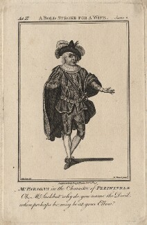 William Parsons as Periwinkle, by James Roberts - NPG D8434