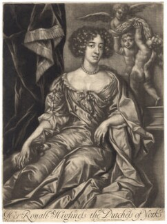 Mary of Modena as Duchess of York, published by Richard Tompson, after  Sir Peter Lely, 1678-1679 - NPG D8439 - © National Portrait Gallery, London