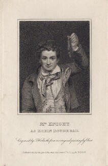 Edward Knight as Robin Roughead in Allingham's 'Fortune's Frolic', by Thomas Woolnoth, after  George Clint - NPG D8450
