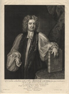 Francis Gastrell, by George Vertue, after  Michael Dahl - NPG D8460