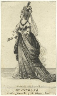 Sarah Siddons (née Kemble) in the Character of the Tragic Muse, by Thomas Cook, printed for  John Bell - NPG D8466