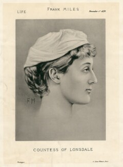 Constance Gwladys Robinson (née Herbert), Marchioness of Ripon, after Frank Miles - NPG D8467