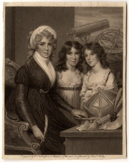 Margaret Bryan with her daughters, by William Nutter, after  Samuel Shelley - NPG D8491