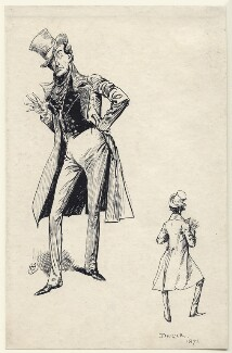 Sir Henry Irving as Jingle in 'Pickwick', by Harry Furniss - NPG D85