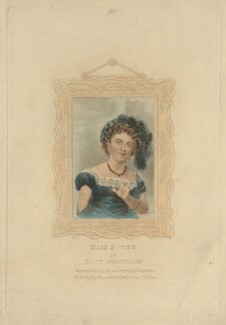 Mary Ann Povey (Mrs Knight) as Lucy Bertram, by R. Page, published by  John Duncombe, after  Thomas Charles Wageman - NPG D8503