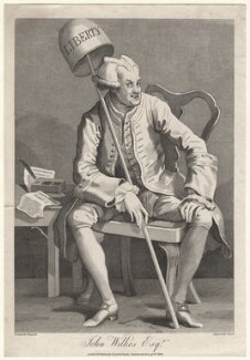 John Wilkes, by Thomas Cook, published by  George, George and John Robinson, after  William Hogarth - NPG D8507