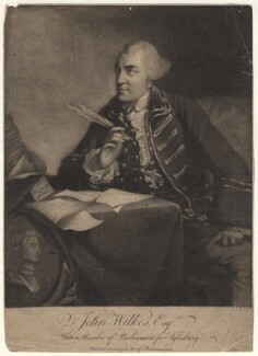 John Wilkes, by James Wilson, after  Robert Edge Pine - NPG D8508