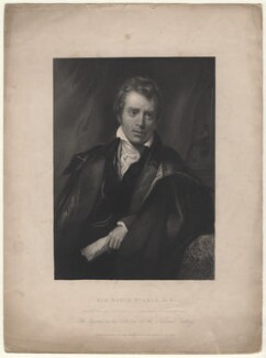 Sir David Wilkie, by Francis Holl, after  Thomas Phillips - NPG D8510