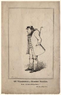 James Pimbury Wilkinson as Hookey Walker in Pindar's 'Walk for a Wager', by (Isaac) Robert Cruikshank - NPG D8512
