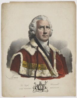 Henry Dundas, 1st Viscount Melville, by Antoine Maurin, printed by  François Le Villain, after  Sir Henry Raeburn - NPG D8517