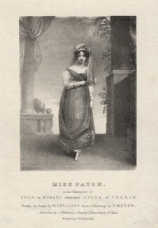 Mary Ann Paton (Mrs Wood) as Reiza in Weber's 'Oberon', by Richard James Lane, after  Frederick Meyer - NPG D8524