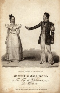 Mr Wood and Miss Cawse as Tom Tug and Wilhelmina in 'The Waterman' (Joseph Wood; probably Mary Giovanna Cawse), by (Isaac) Robert Cruikshank, after  Richard Sawyer - NPG D8533