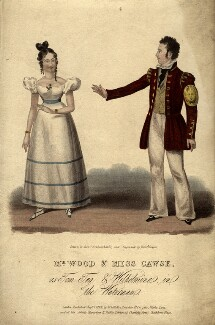 Mr Wood and Miss Cawse as Tom Tug and Wilhelmina in 'The Waterman', by (Isaac) Robert Cruikshank, after  Richard Sawyer - NPG D8534