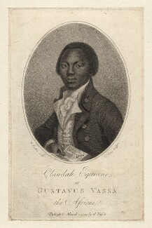 Olaudah Equiano ('Gustavus Vassa'), by Daniel Orme, published by  Olaudah Equiano ('Gustavus Vassa'), after  W. Denton, published 1 March 1789 - NPG  - © National Portrait Gallery, London