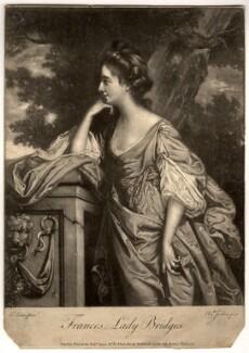 Frances (née Fowler), Lady Bridges, by Elizabeth Judkins, printed for  Robert Sayer, after  Francis Cotes - NPG D856