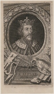 King Alfred ('The Great'), by George Vertue - NPG D8576
