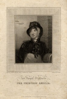 Princess Amelia, by Anthony Cardon, after  Andrew Robertson, published 1810 - NPG D8580 - © National Portrait Gallery, London