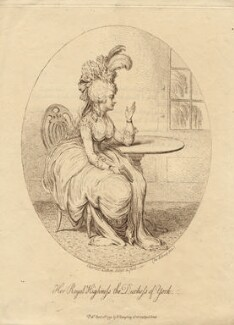 Frederica Charlotte Ulrica Catherina, Duchess of York and Albany, by James Gillray, published by  Hannah Humphrey, published 10 April 1792 - NPG D8582 - © National Portrait Gallery, London
