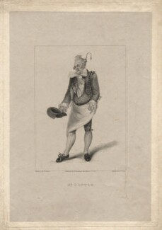Henry Gatti as Monsieur Marbleu in Moncrieff's 'Monsieur Tonson', by Robert Cooper, published by  Henry Berthoud, after  Michael William Sharp - NPG D8588