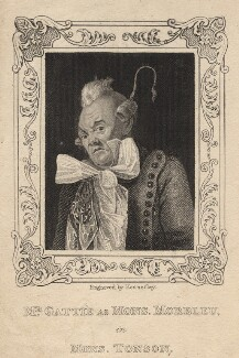 Henry Gatti as Monsieur Marbleu in Moncrieff's 'Monsieur Tonson', by John Kennerley, after  Michael William Sharp - NPG D8589