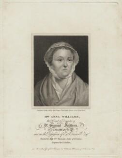 Anna Williams, by Ebenezer Stalker, published by  Alexander Beugo, after  Frances Reynolds - NPG D8592