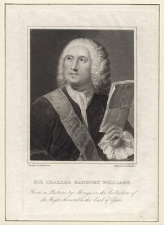 Sir Charles Hanbury Williams, by Richard Rhodes, after  Anton Raphael Mengs - NPG D8593