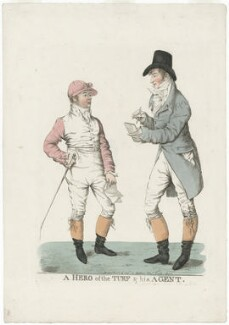 'A hero of the turf & his agent' (Frank Buckle; Henry Francis Mellish), by and published by Robert Dighton - NPG D8598