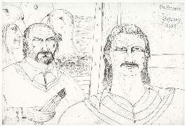 John Bellany; Ian Botham, by John Bellany - NPG D8599
