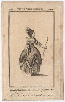 Priscilla Kemble (née Hopkins) when Miss Hopkins; as Lavinia in 'Titus Andronicus', after James Roberts, published 1776 - NPG D8663 - © National Portrait Gallery, London