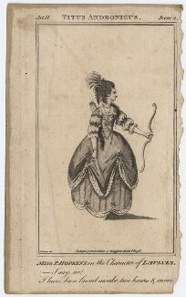 Priscilla Kemble (née Hopkins) when Miss Hopkins; as Lavinia in 'Titus Andronicus', after James Roberts - NPG D8664