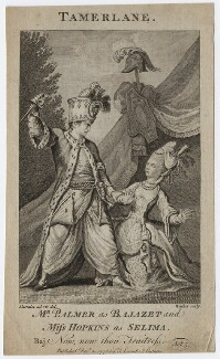John Palmer; Priscilla Kemble (née Hopkins) (as Bajazet and Selima in Collier's 'Selima and Azor'), by Walker, after  John James Barralet - NPG D8670