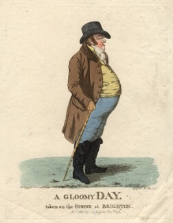 Matthew Day ('A gloomy day, taken on the Steyne at Brighton'), by and published by Robert Dighton - NPG D8698