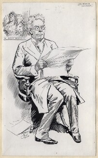 Lionel Brough, by Harry Furniss - NPG D87